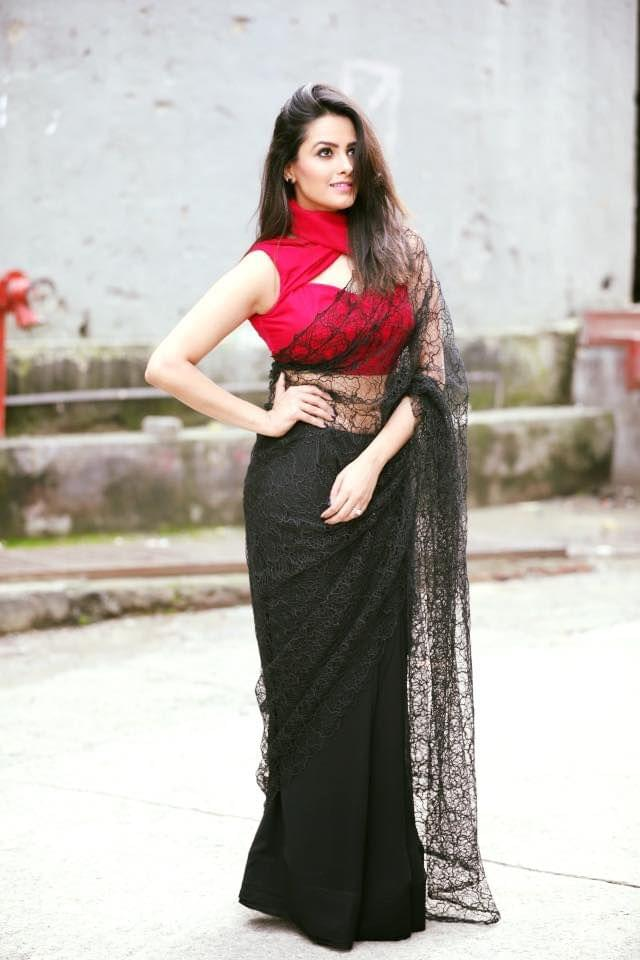 Black & Red Color  Rasal Net Saree sty-1769