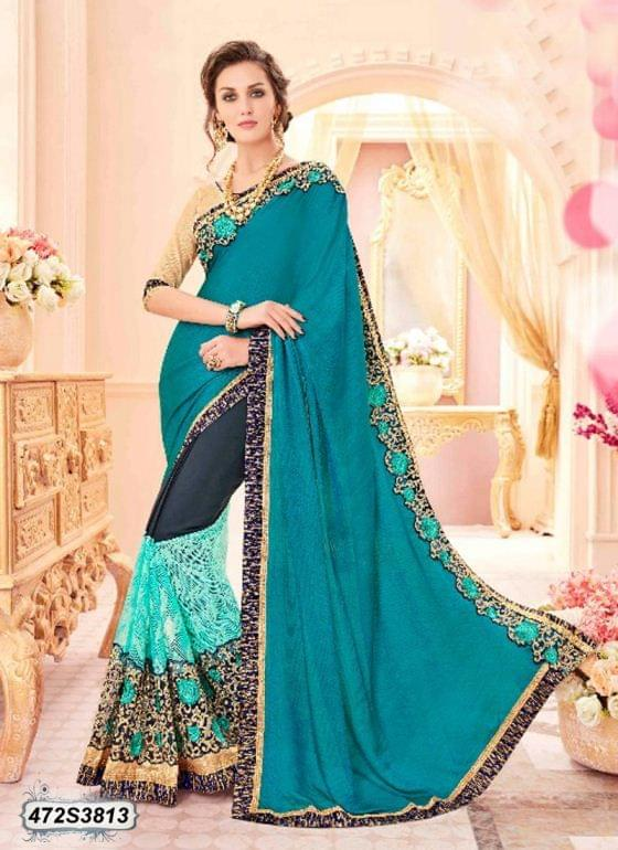 Blue Color Silk Saree 472S3813