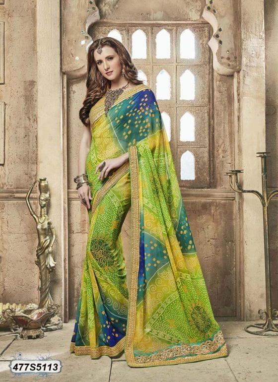 Multi Color  Georgette  Saree 477S5113