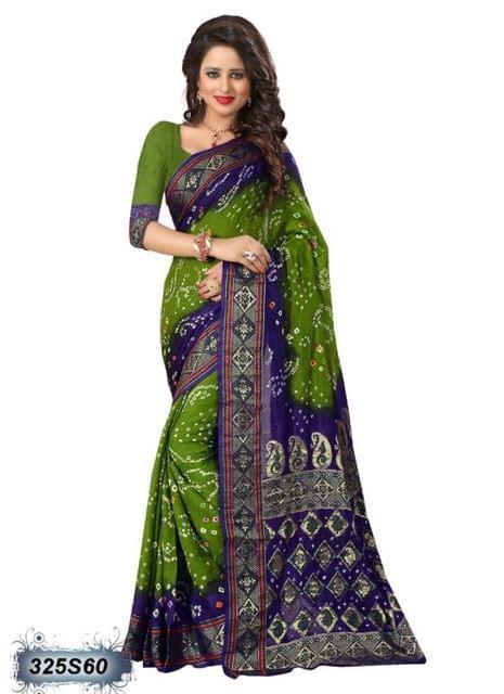 Purple & Green Color Art Silk Saree 325S60