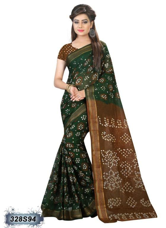 Brown Color Cotton Saree 328S94