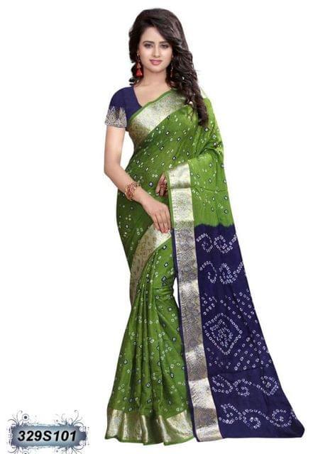 Blue Color Art Silk Saree 329S101