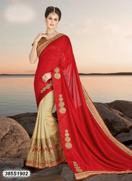 Red Color  Georgette  Saree 385S1902