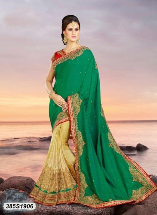 Green Color Silk Saree 385S1906
