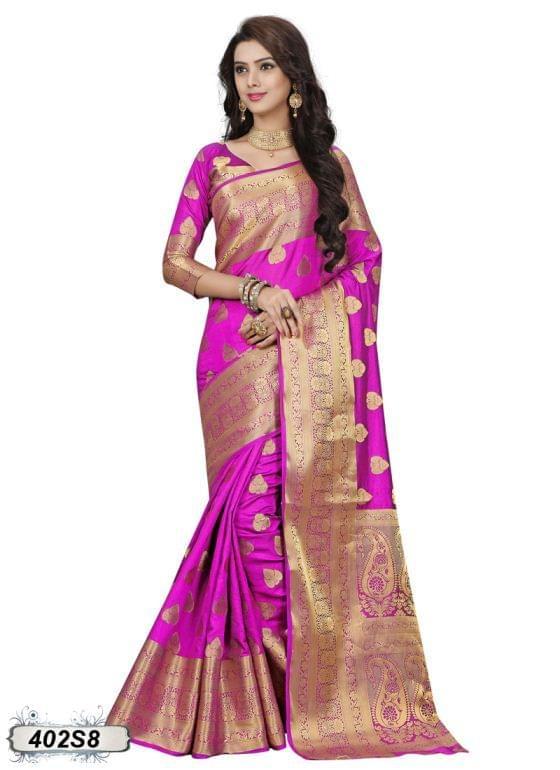 Pink Color Silk Saree 402S8