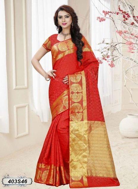 Red Color Silk Saree 403S46