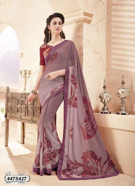 Purple Color  Georgette  Saree 447S427