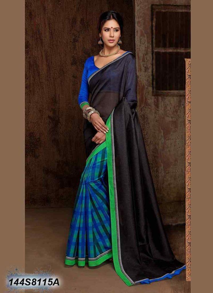 Black Color Art Silk Saree 144S8115A