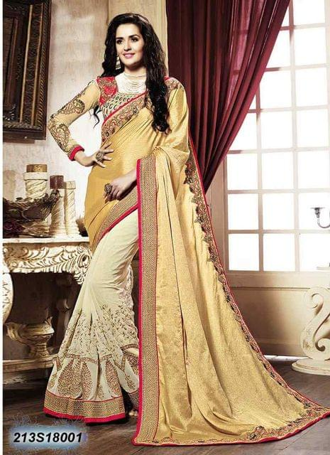 Beige Color  Georgette  Saree 213S18001