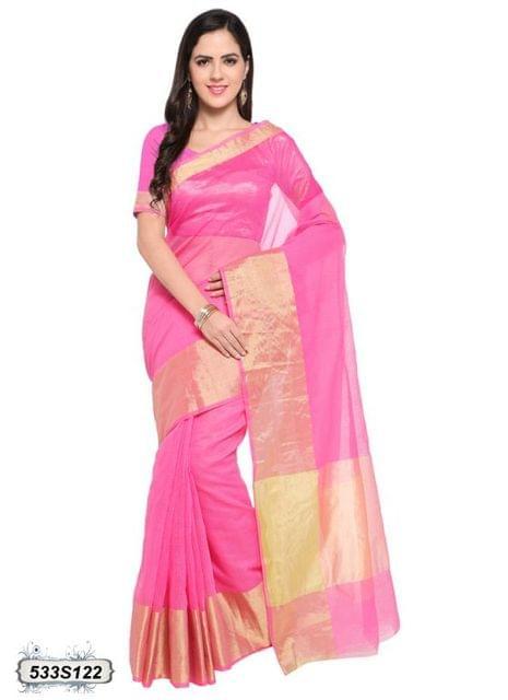 Pink Color Poly Silk Saree 533S122