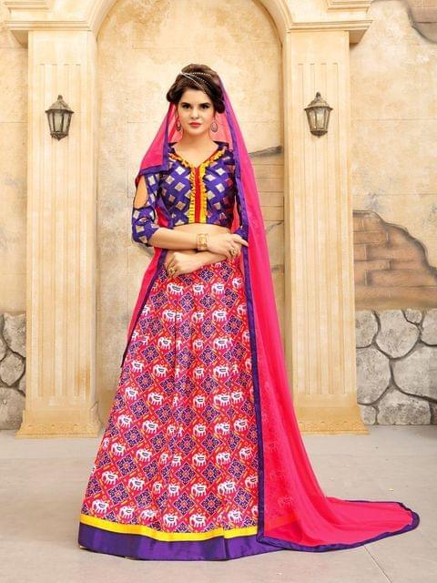 Purple Color Twrill Silk1 Lehenga Choli NVT-02