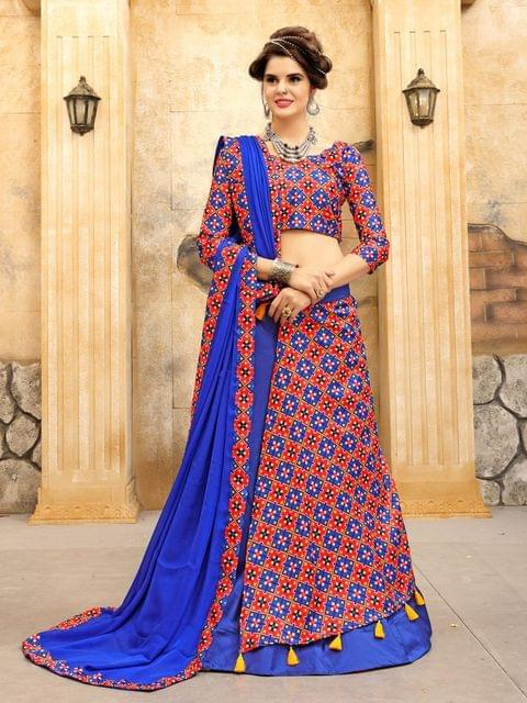 Royal Blue Color Twrill Silk1 Lehenga Choli NVT-04