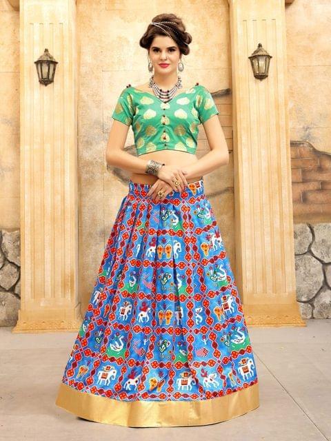 Rama Green Color Twrill Silk1 Lehenga Choli NVT-05