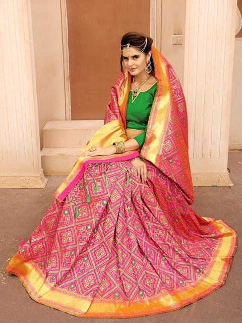 Pink Color  Banarasi Tifi Silk Saree MT-03