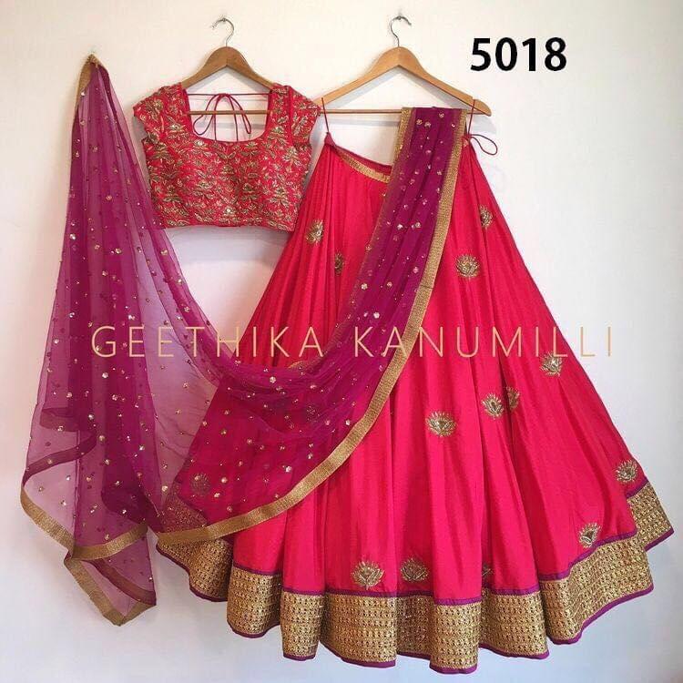 Pink Color Paper Silk Lehenga  Choli sty-5018