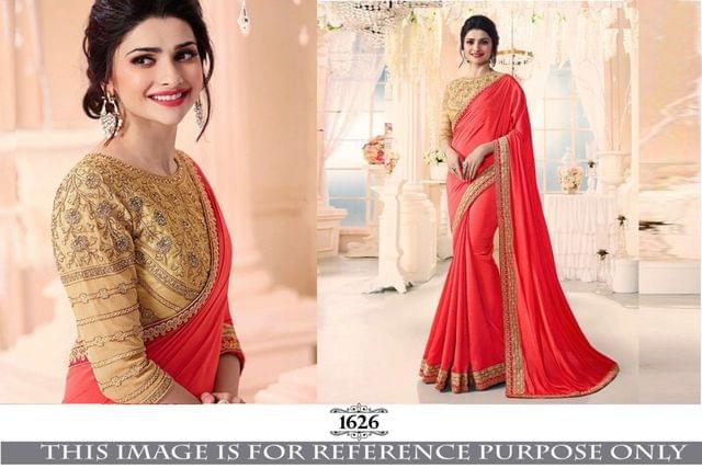 Red Color Georgette Silk Saree  Rozdeal-1626