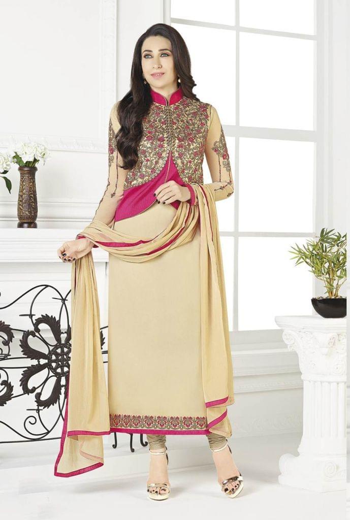 Dark Mahendi Color Designer Semi Stitched Suit 26199