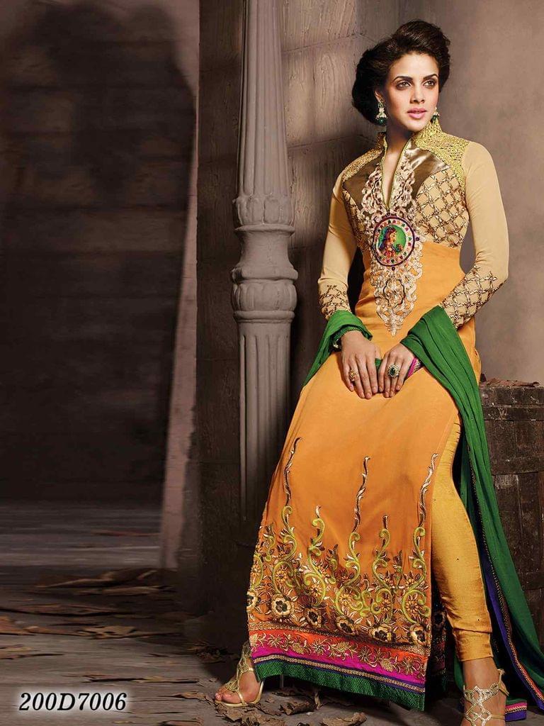 Yellow Color Georgette Salwar Suit 200D7006