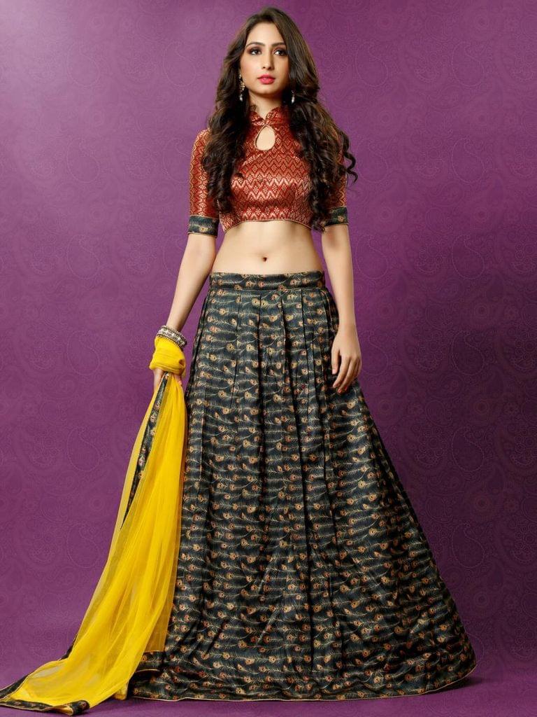 Black Color Banglori Silk Designer Lehenga Choli  26836