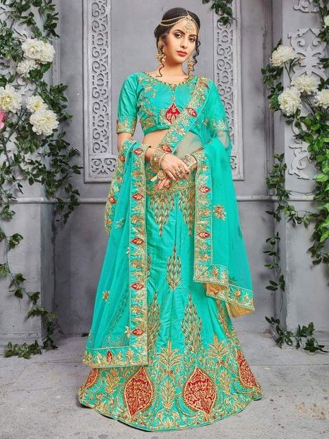 Firoji Color Pure Silk Designer Lehenga Choli 26848