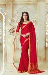 Red Color Designer Partywear Chiffon  Saree 26808