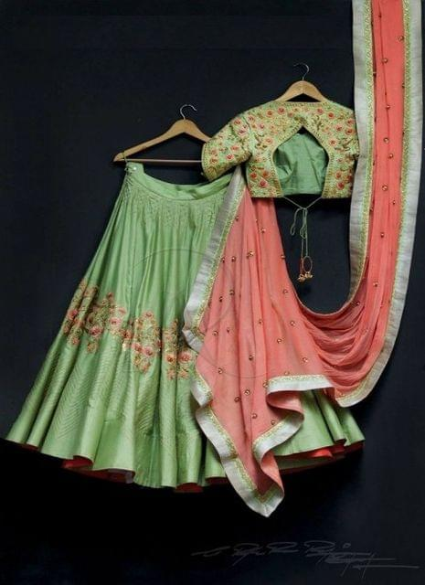 Green  Color  Banglori Party Wear Lehenga Choli 1784