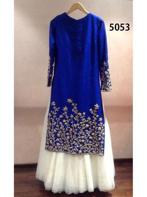 Blue Color Indo Western Georgette Lehenga  sty-5053