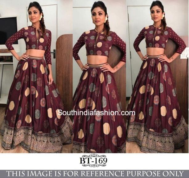 Maroon Color Silk Print  Lehenga Choli BT-169