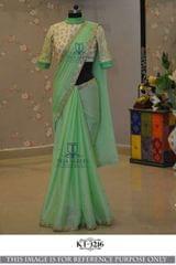 Sea Green Color  Rangoli Silk Saree  KT-3216