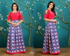 Awesome Blue Color Art Silk Readymade Gown