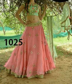 Light Pink Color Heavy Georgette  Lehenga Choli Sty-1025
