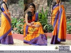 Multi Color Paper Silk Saree NX-266