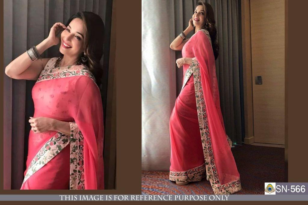 Pink Color Georgette Saree SN-566