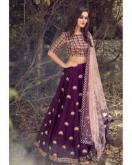 Purple Color Banglori Silk LehengaCholi  RDS250-001