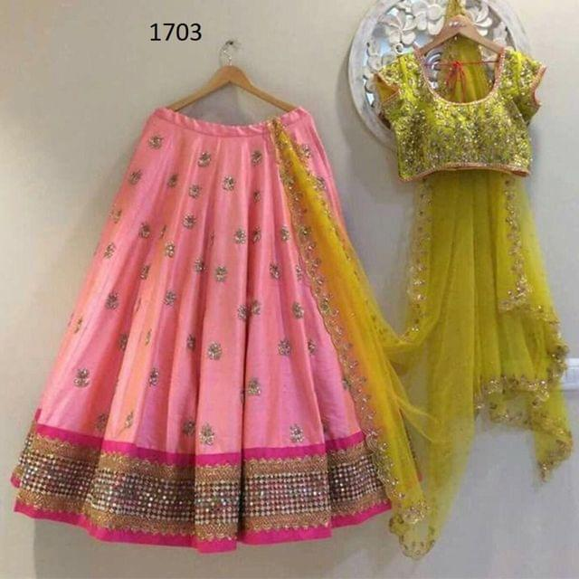 Pink Color Paper Silk Lehenga Choli Styleaz_1703