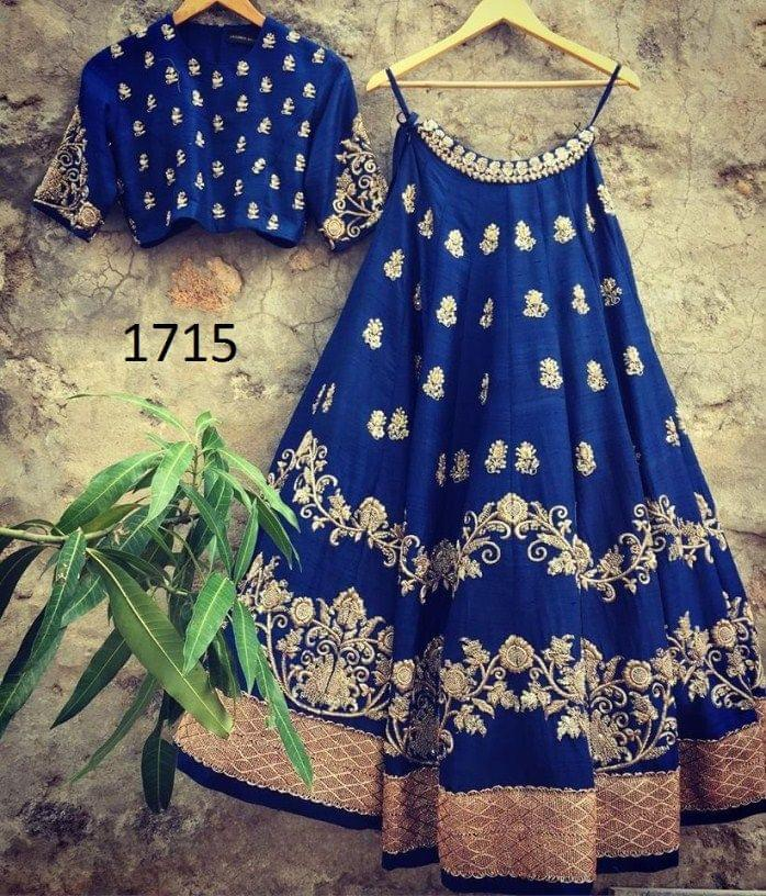 Blue Color Taffeta Lehenga  Choli Styleaz_1715