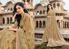 Beige Color Border Design Cotton Saree  Beautiful Saree 1801066
