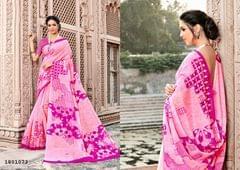 Pink Color Border Design Cotton Saree  Beautiful Saree 1801073