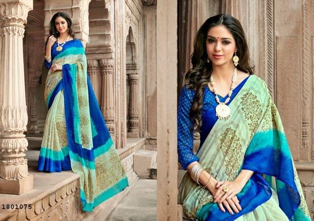 Multi Color Border Design Cotton Saree  Beautiful Saree1801075