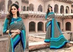 Multi Color Border Design Cotton Saree  Beautiful Saree 1801078