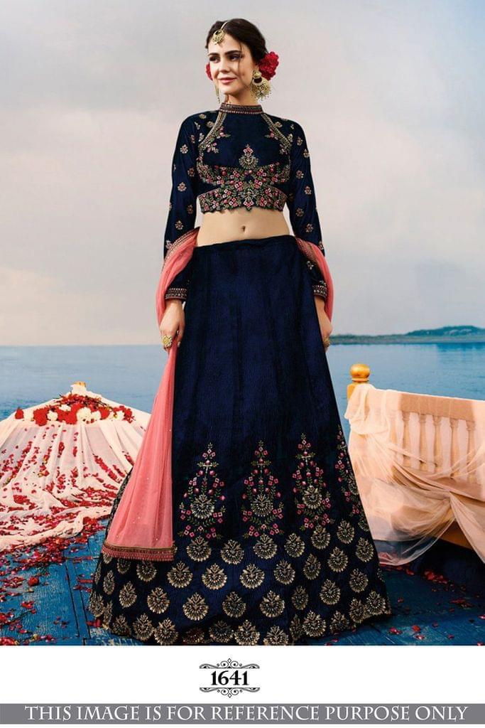 Blue Color Benglori Silk Lehenga Choli 1641