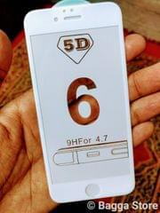 iphone 6 white 5D curved  Tempered Glass  5d 2