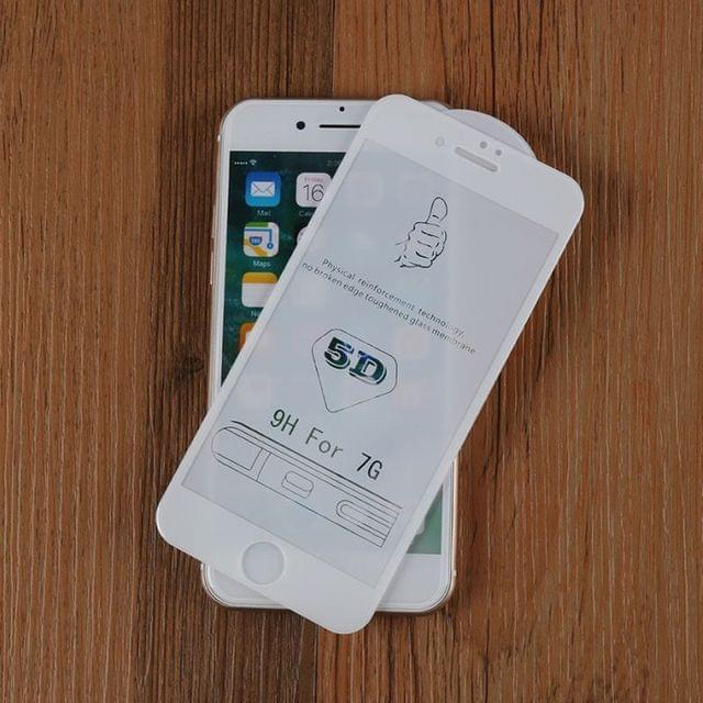 iphone 7 white 5D curved Tempered Glass