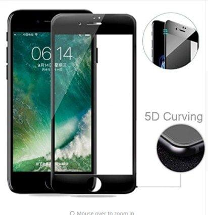 iphone 8 plus black 5D curved Tempered Glass 5d 11