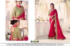 Magenta Color Chinon Silk Saree 4026