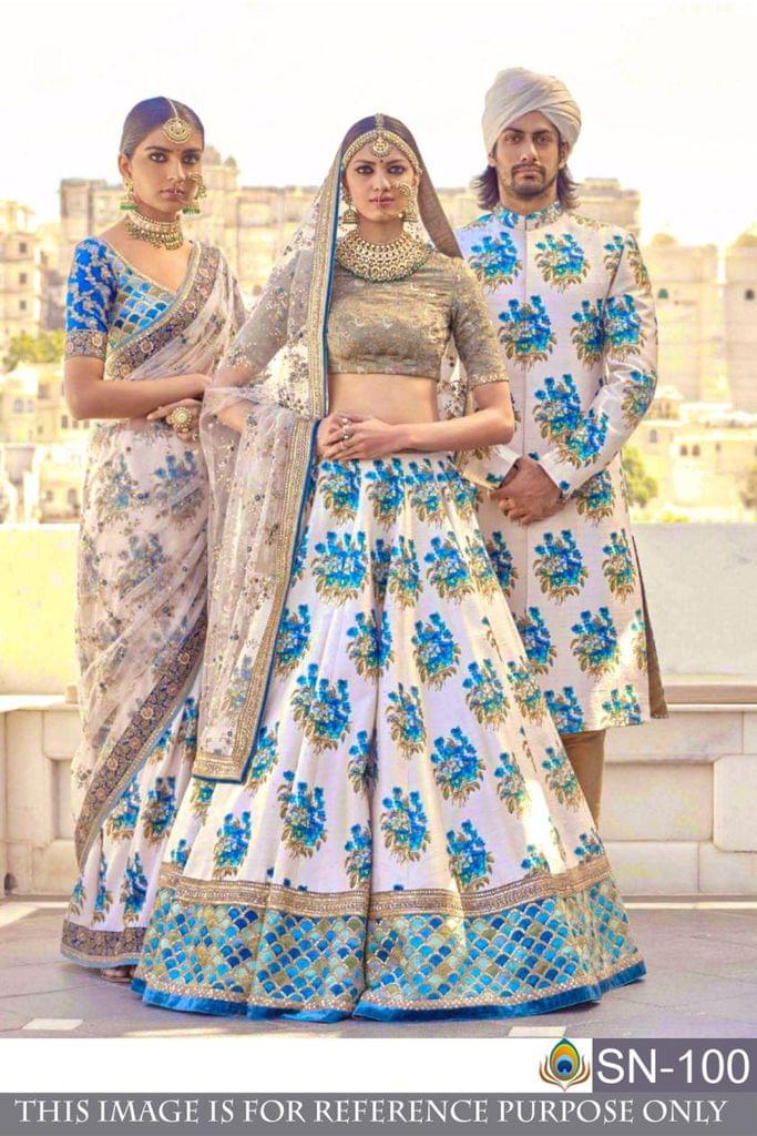 Multi Color Benglori Silk  &  Digital Print Lehenga Choli SN-100