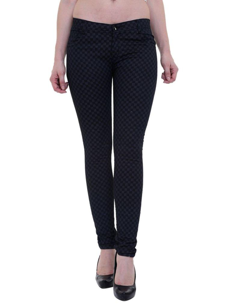 Black Color Girls Satan Trouser