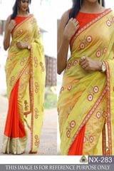 Yellow Color Chanderi Silk Saree NX-283
