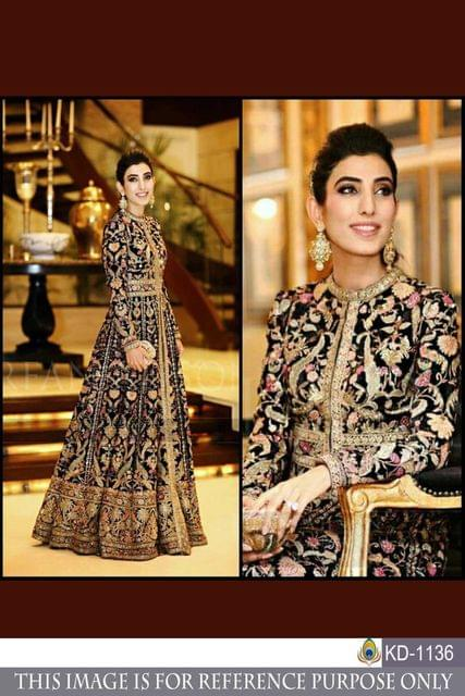 Multi Color Benglori Silk Gown KD-1136