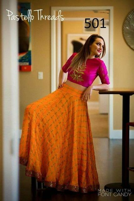 Yellow Color Banarasi Jacquard Lehenga Choli sty-501